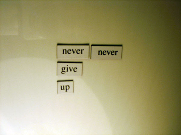 Fridge for Thought by Andrew Kooman - Never Give Up